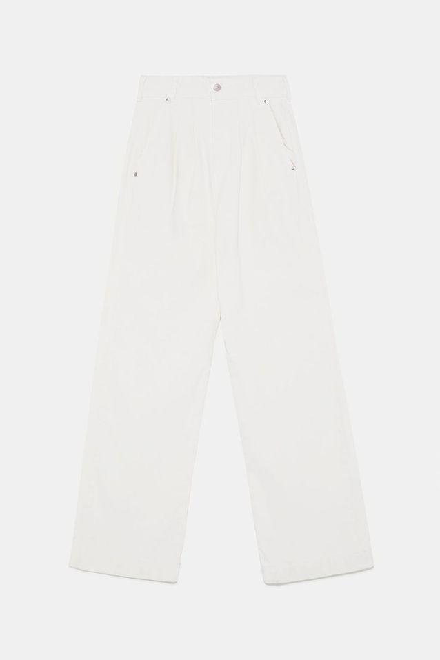 Jean blanc palazzo Zara