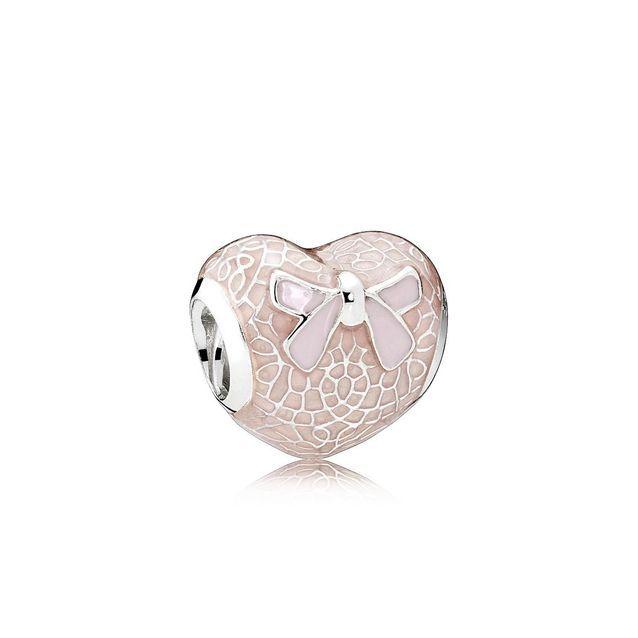 Le charm Cœur en Dentelle et Nœud Roses de Pandora - 10 merveilles ...