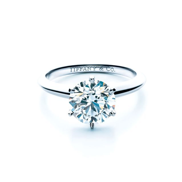 Bague diamant et platine Tiffany and Co.