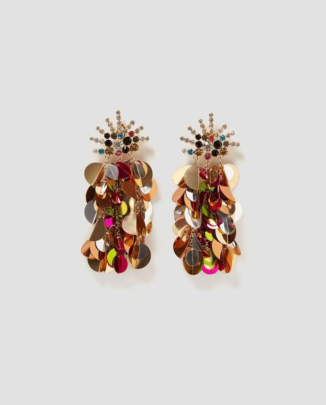 Grosses boucles d'oreilles à pailettes Zara