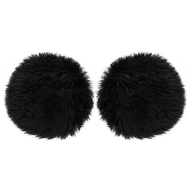 Grosses boucles d'oreilles en fourrure Balenciaga