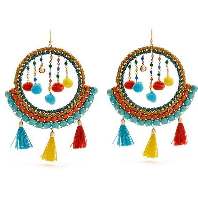 Grosses boucles d'oreilles multicolores Rosantica By Michela Panero