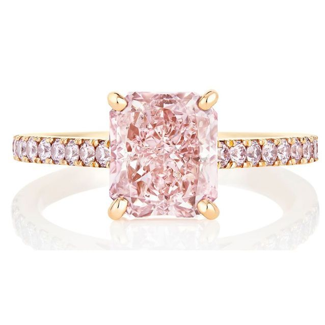 Bague or rose De Beers