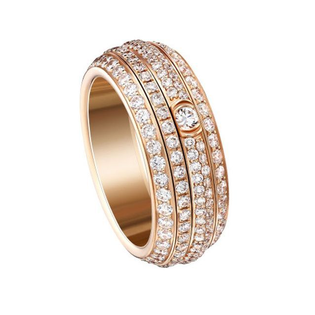 Bague or rose Piaget