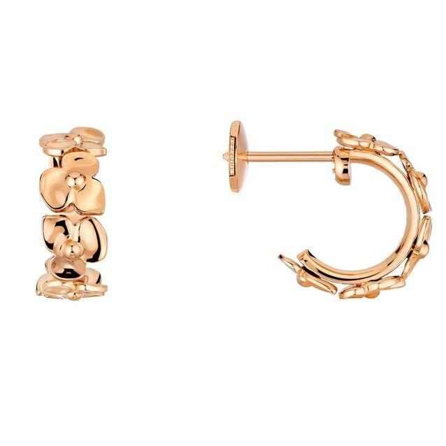 Boucles d'oreilles en or rose Chaumet
