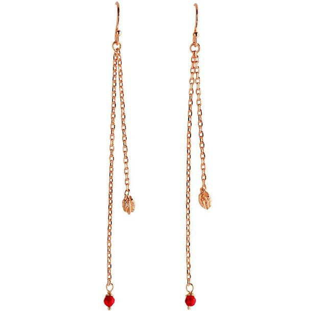 Boucles d'oreilles en or rose Monsieur Paris