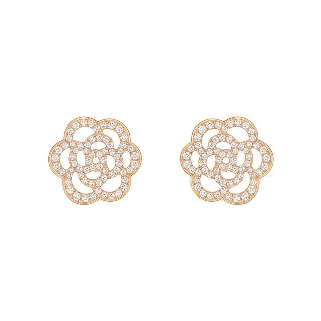 Boucles d'oreilles or rose Chanel Joaillerie