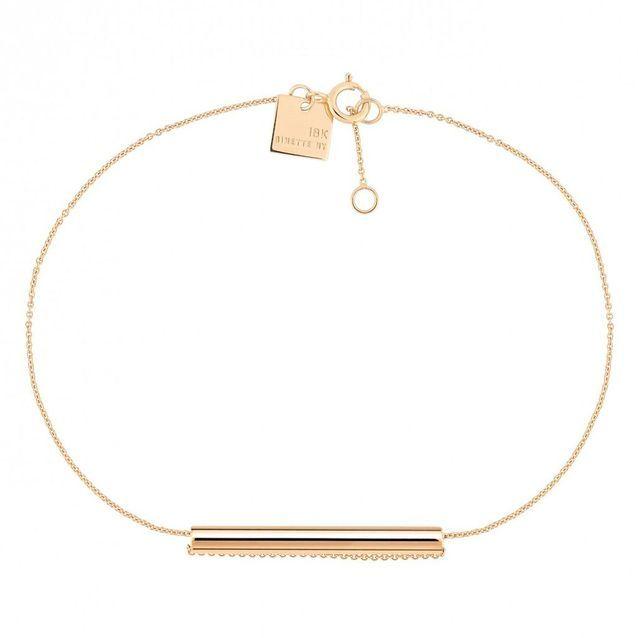 Bracelet fin en or rose Ginette NY