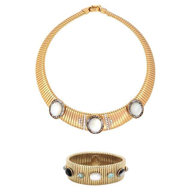 Parure bijoux dorée Gas Bijoux