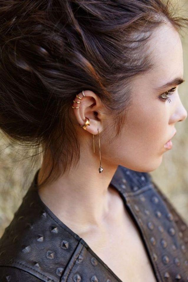 Piercing haut de l'oreille