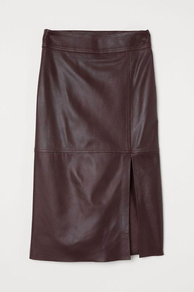 Jupe midi en cuir H&M 20 jupes midi à adopter cet automne
