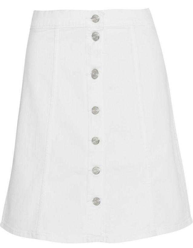 bf77b366819cf Jupe blanche ouverte J-Crew - 20 jupes blanches pour amorcer l'été ...