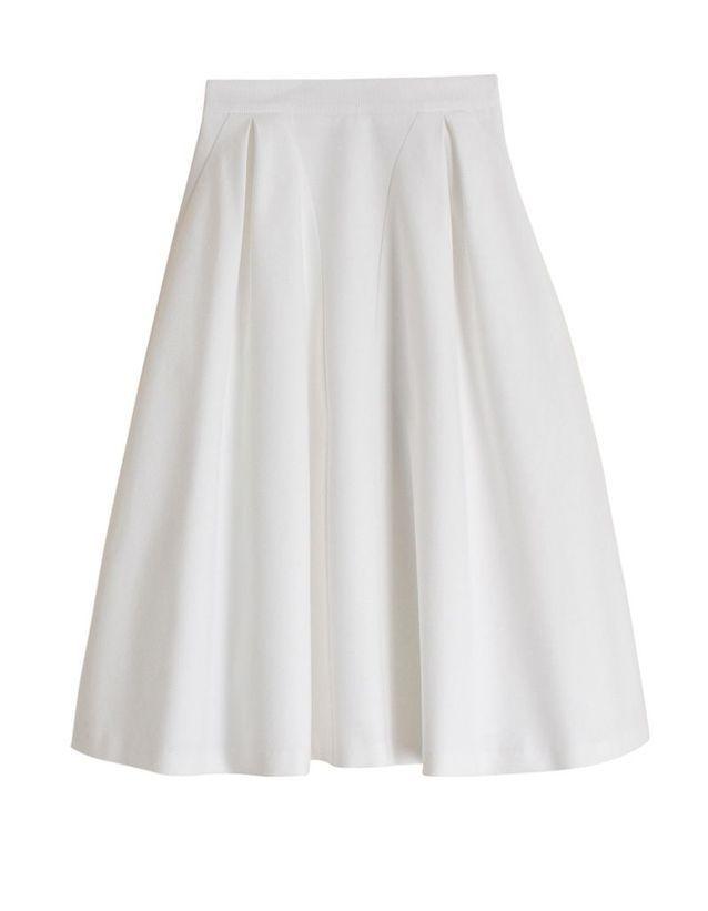 c1bde62c2d7f5 Jupe blanche Tara Jarmon - 20 jupes blanches pour amorcer l'été - Elle