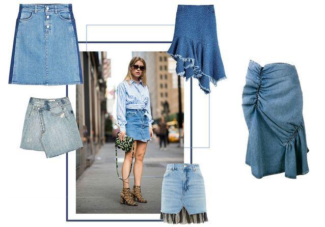 0932736771a75e Jupe en jean : 25 modèles de jupes en jean pour être cool tout l'été ...