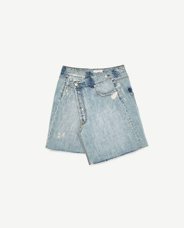 71c95375009064 Jupe en jean Zara - Les 25 plus belles jupes en jean de l'été sont ...