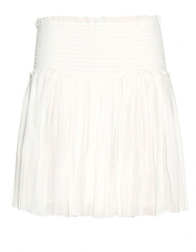 Jupe plissée blanche Isabel Marant