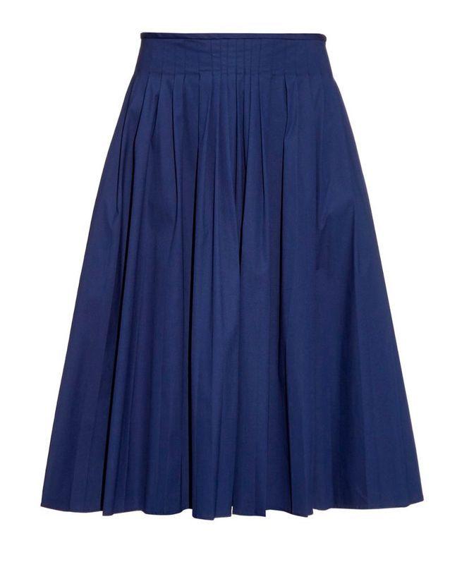 Jupe plissée bleu S'MaxMara