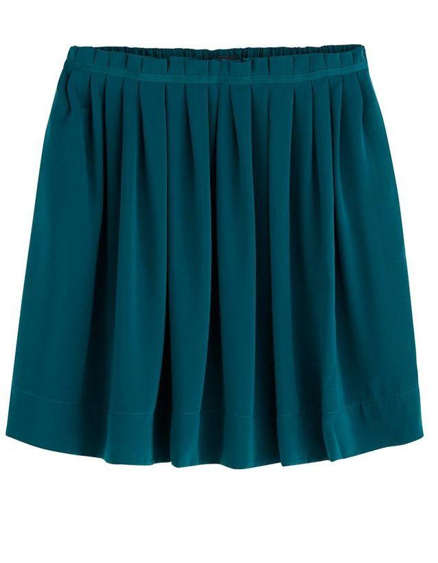 Jupe plissée verte Promod