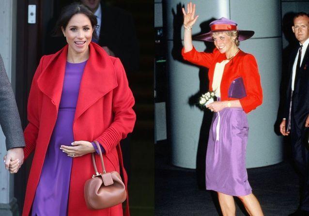 10 fois où Meghan Markle s'est inspirée des looks de Lady Diana