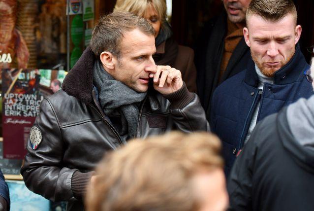 Emmanuel Macron et son blouson très Top Gun