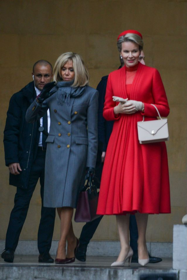 Brigitte Macron avec la reine Mathilde de Belgique