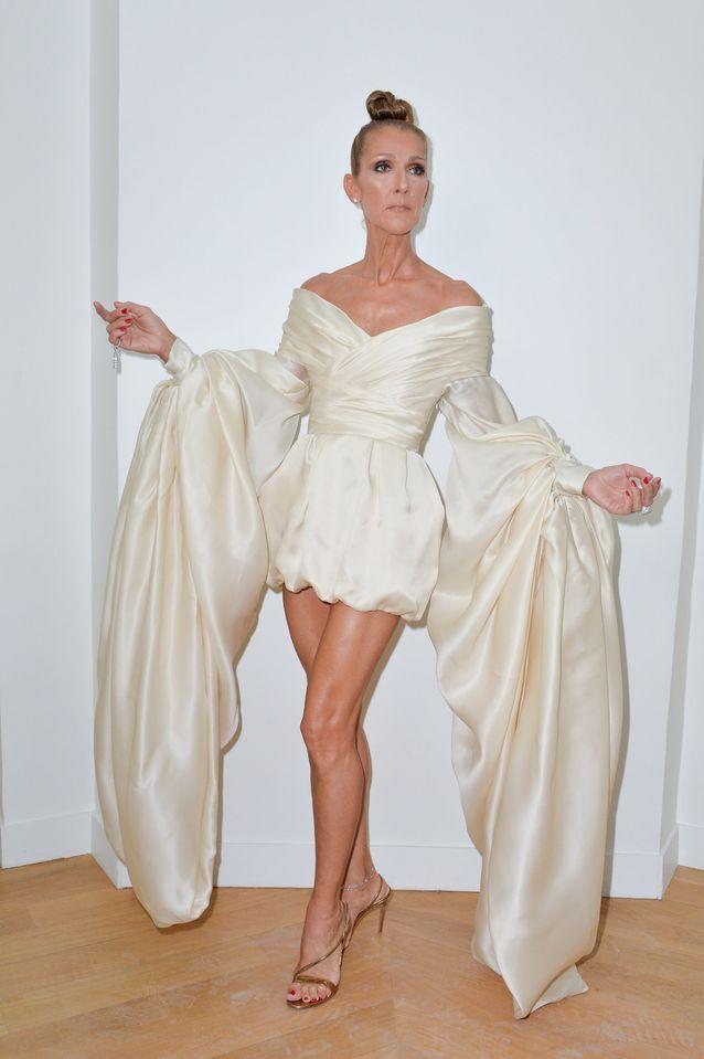 Céline Dion en robe Alexandre Vauthier pour la semaine de la Couture