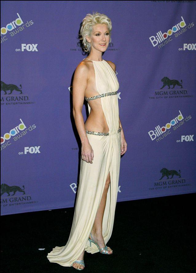 Céline Dion et sa robe graphique dos nu