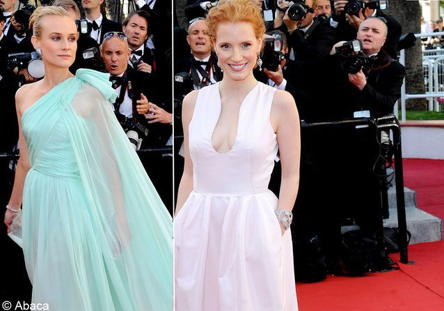 Jessica Chastain vs Diane Kruger : leur match mode à Cannes