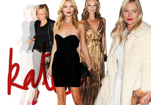 Les basiques de fête de Kate Moss