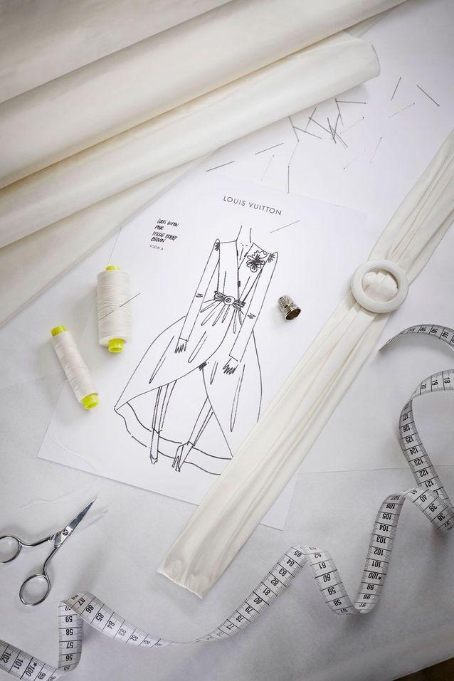 La création de la robe Louis Vuitton de Millie Bobby Brown
