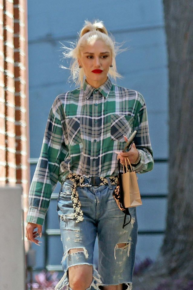 Look casual pour Gwen Stefani