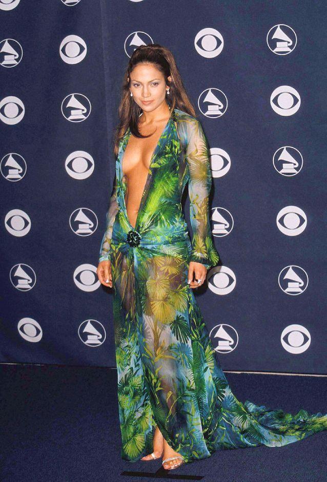 Jennifer Lopez et sa robe Versace en 2000