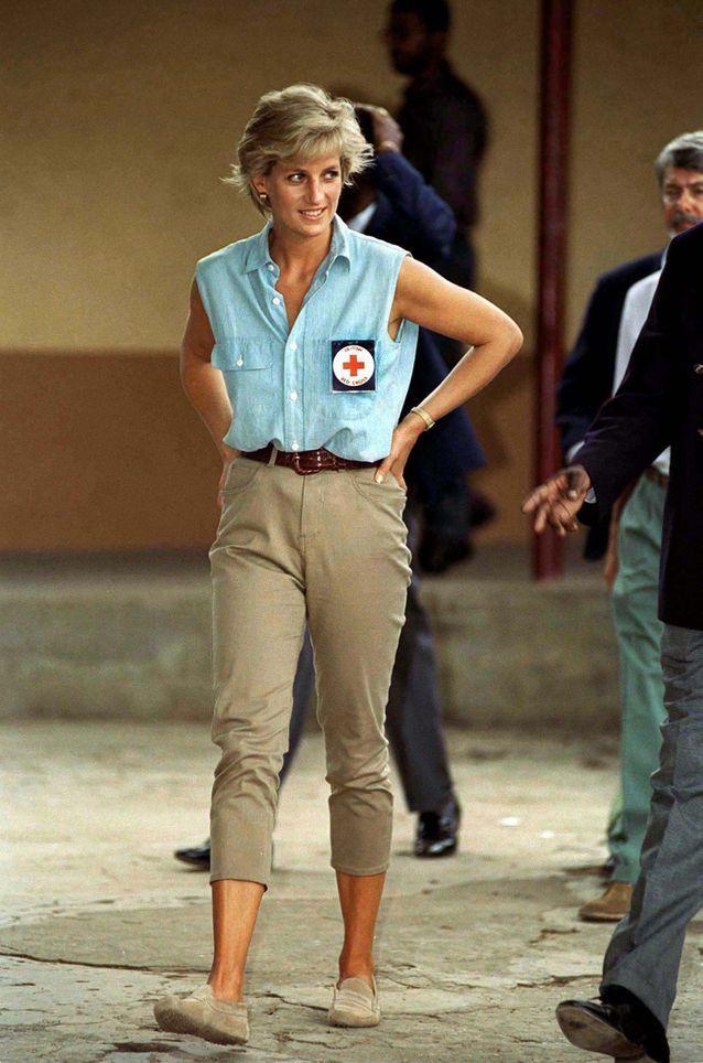 Lady Diana et ses mocassins Tod's