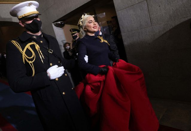 Lady Gaga fait son entrée au Congrès