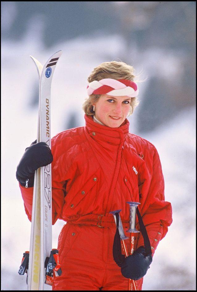 Lady Diana au ski en Suisse, 1986