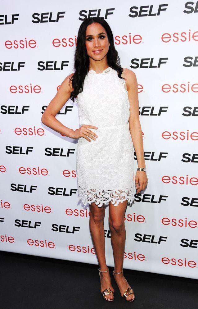 Meghan Markle en robe blanche