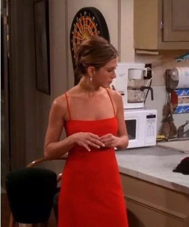 La robe rouge sexy de Rachel Green