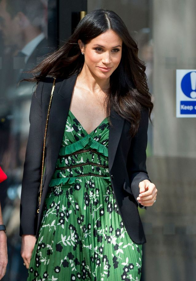 Meghan Markle en robe fleurie
