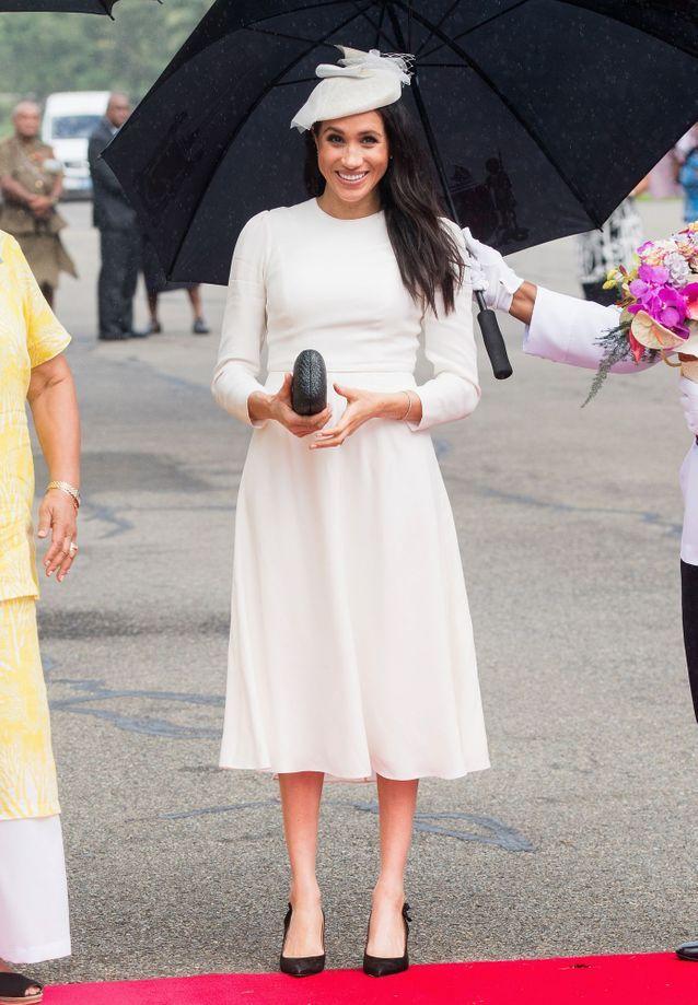 Meghan Markle et son look blanc lumineux