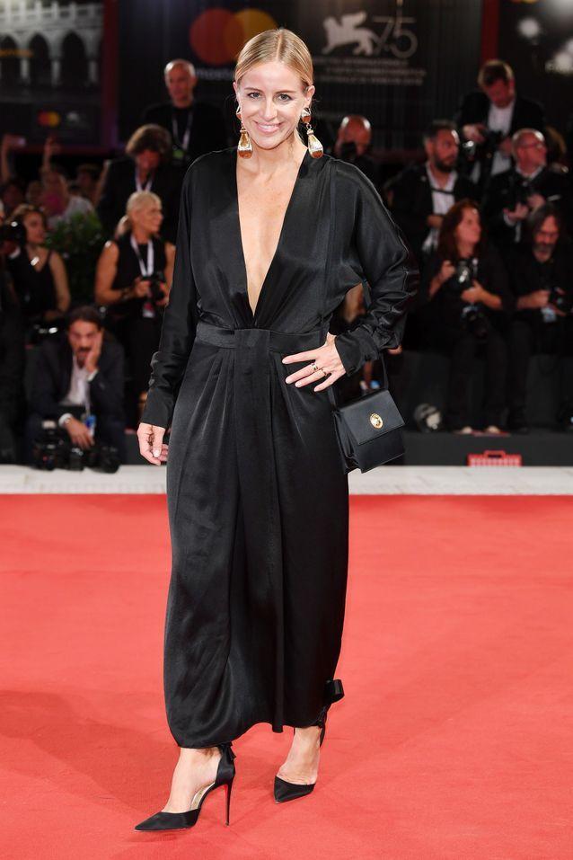 Celine Aagaard sur le tapis rouge de la Mostra de Venise