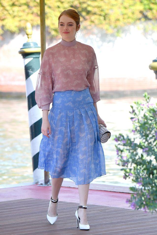 Emma Stone quelques heures avant le tapis rouge