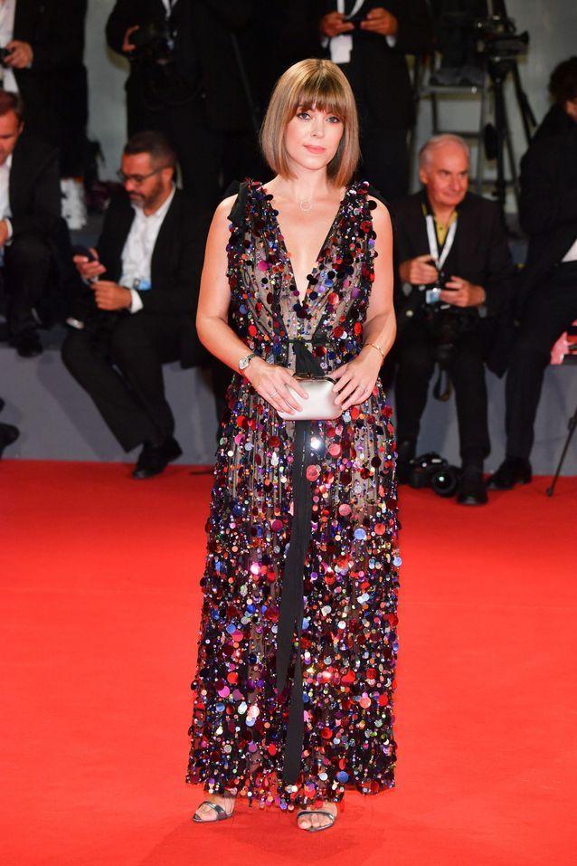 Jenny Cipoletti sur le tapis rouge
