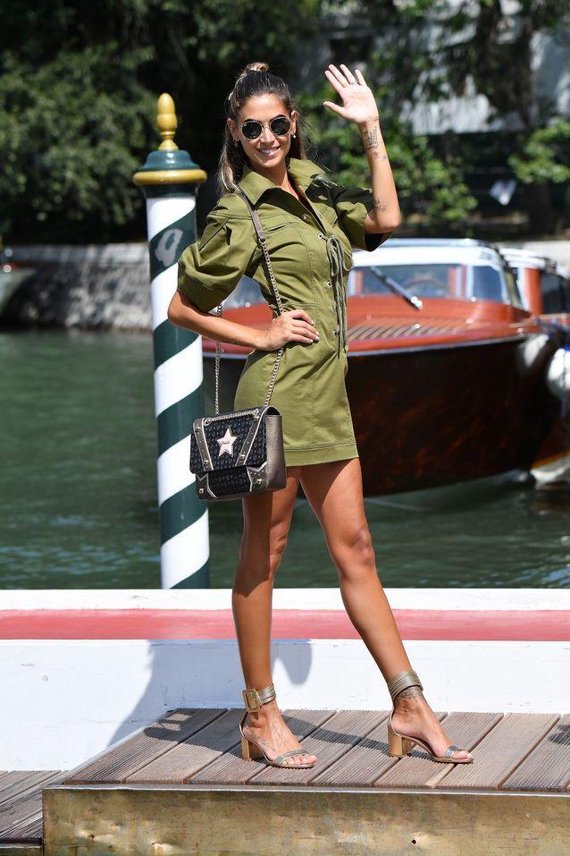 Melissa Satta à la Mostra de Venise