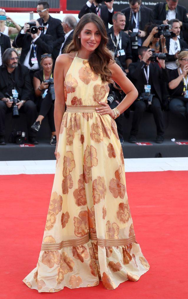 Nunzia Amato sur le tapis rouge