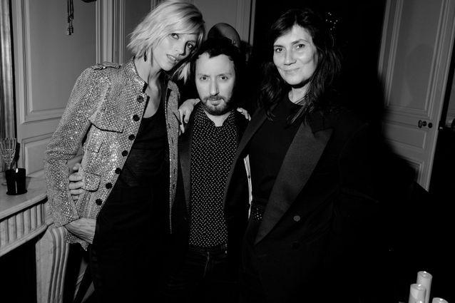 Anja Rubik, Anthony Vaccarello et Emmanuelle Alt