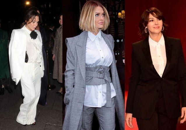 Victoria Beckham, Caroline Receveur, Monica Bellucci : la chemise blanche, la nouvelle robe du soir ?