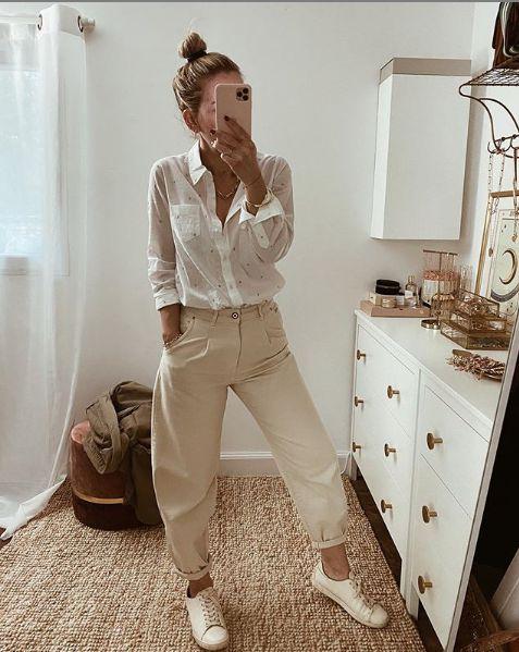 Chemise + pantalon large