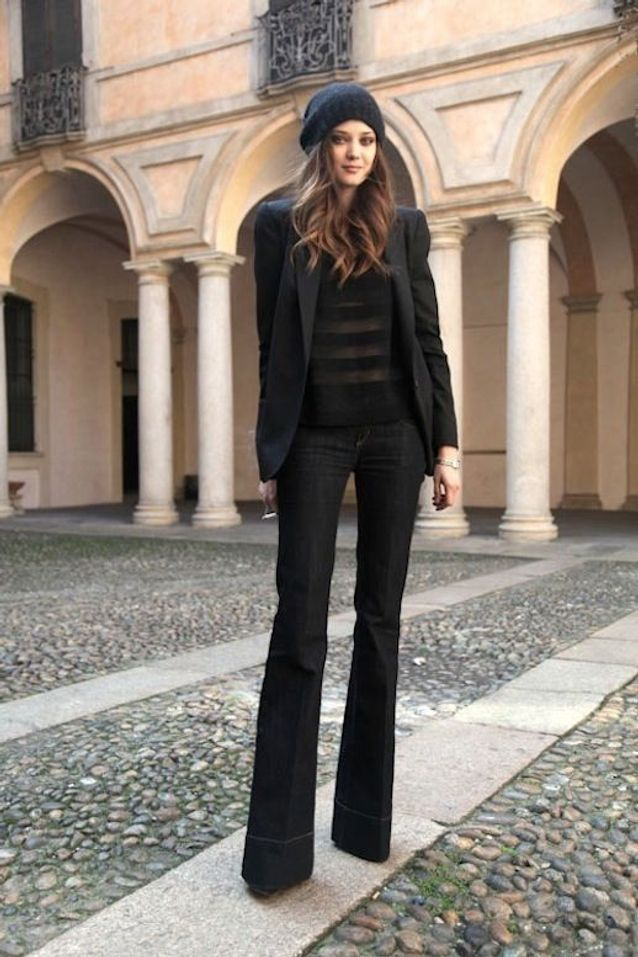 1cc9a794f0e3 Blazer noir   25 façons de porter un blazer noir - Elle