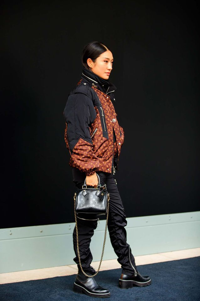 Monogramme sur blouson Louis Vuitton