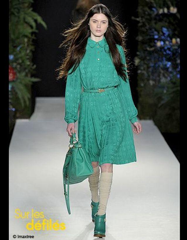 Mode conseil tendance look comment porter vert Mulberry